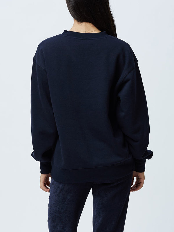 OBEY Refined Box Fit Crewneck Deep navy | OBEY Clothing