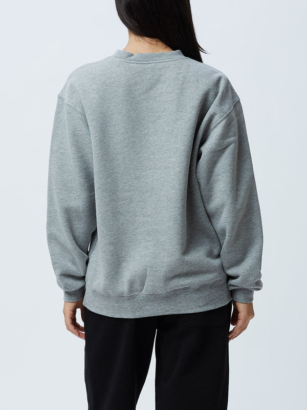 OBEY Vertical Box Fit Crewneck Grey Heather | OBEY Clothing