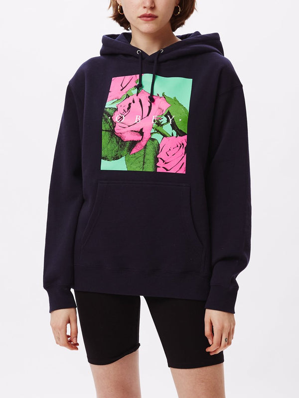 No Love Lost 2 Box Fit Hoodie Deep Navy | OBEY Clothing