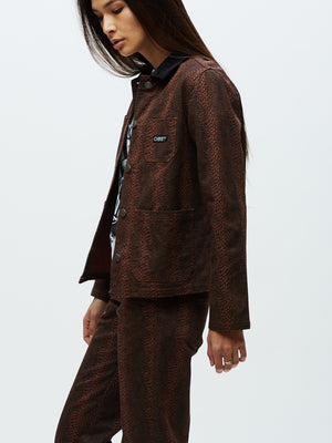 Adder Chore Coat Brown Multi | OBEY Clothing