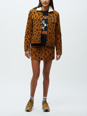 Abbott Sherpa Jacket Leopard | OBEY Clothing