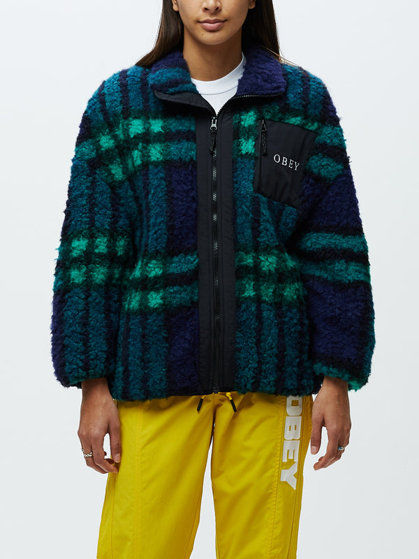 Hudson Jacket Blue Multi | OBEY Clothing