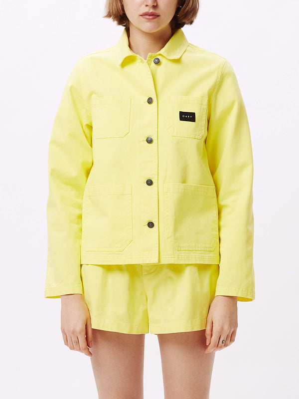 Slacker Chore Coat Yellow | OBEY Clothing
