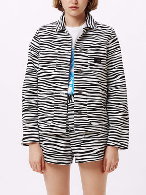 Slacker Chore Coat White Multi | OBEY Clothing