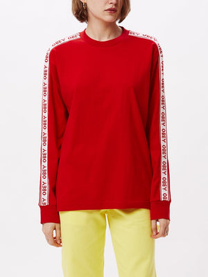 Sonic LS Crew Red | OBEY Clothing