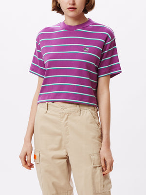 Ernie Cropped Mock T-Shirt Violet Multi | OBEY Clothing