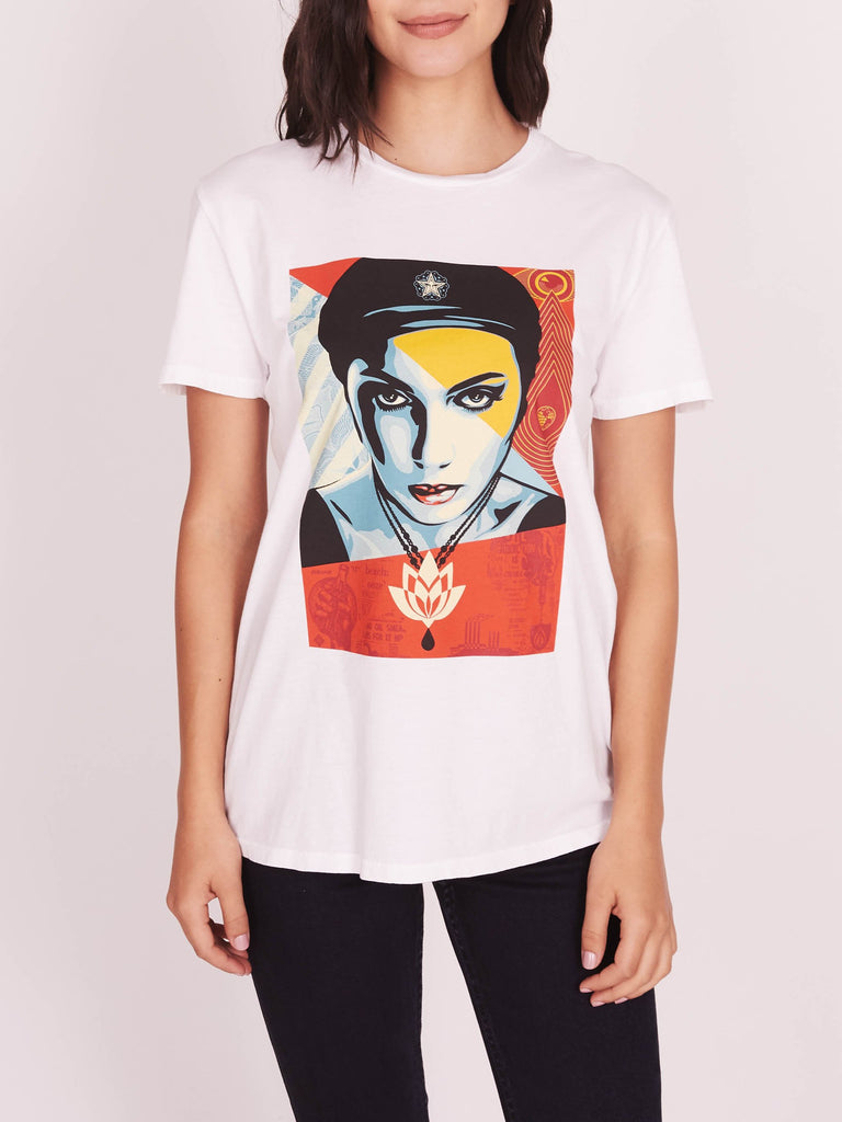 Oil Lotus Woman Classic Tee White | OBEY Clothing