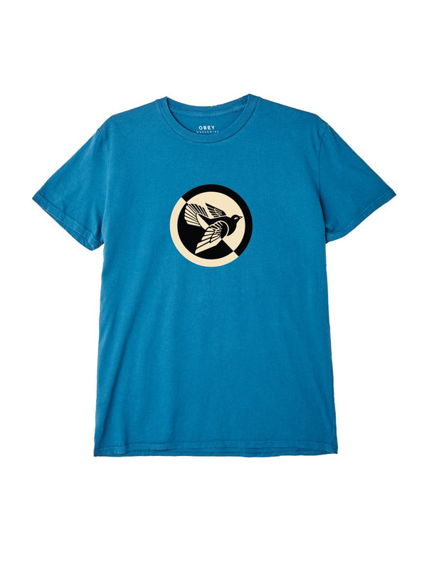Split Dove Classic Tee Teal | OBEY Clothing