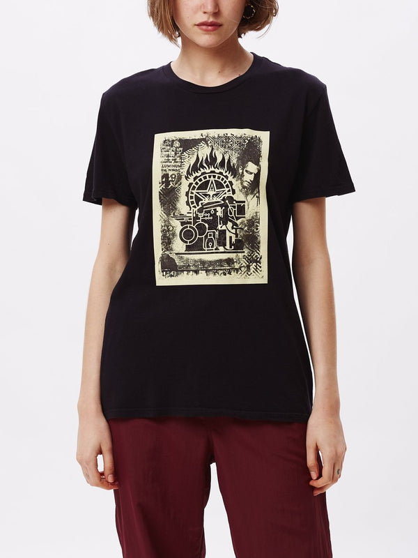 Press Etching Classic Tee Black | OBEY Clothing