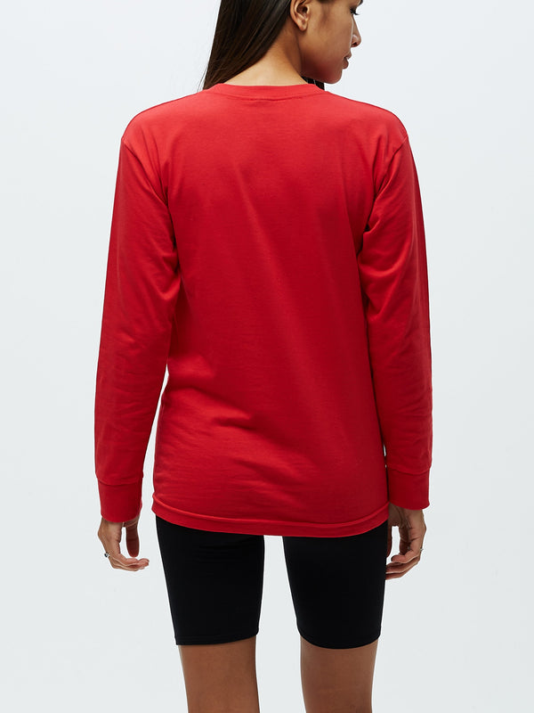 OBEY INTL ADVISORY SALVAGE LS Red | OBEY Clothing