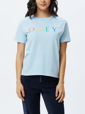 Novel OBEY 2 Shrunken Tee Light Blue | OBEY Clothing