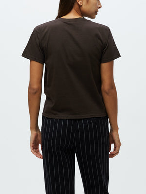 OBEY Starry Script Shrunken Tee Dark Chocolate | OBEY Clothing
