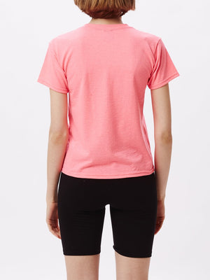 Eyes Icon Shrunken Tee Saftey Pink | OBEY Clothing