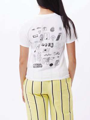 Tropical Trouble Shrunken T-Shirt White | OBEY Clothing