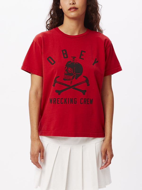 Wrecking Crewneck Custom Box T-Shirt Tomato | OBEY Clothing