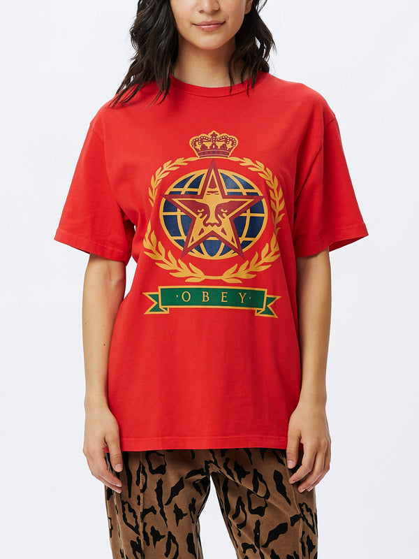 OBEY Prodigy Choice Tee Red | OBEY Clothing