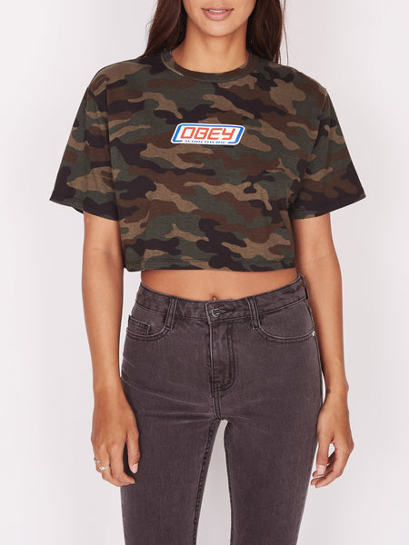 Foreign Candy Printed Jess Cropped Tee | OBEY Clothing