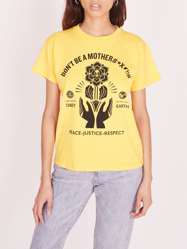 OBEY Motherfr Recycled Organic Tee Yellow | OBEY Clothing