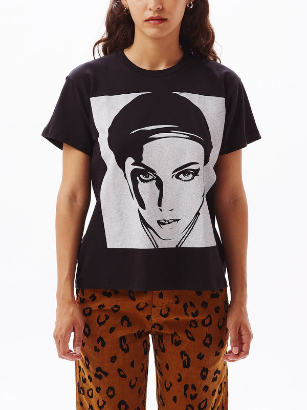 Oil Lotus Woman 2 Sustainable Tee Black | OBEY Clothing