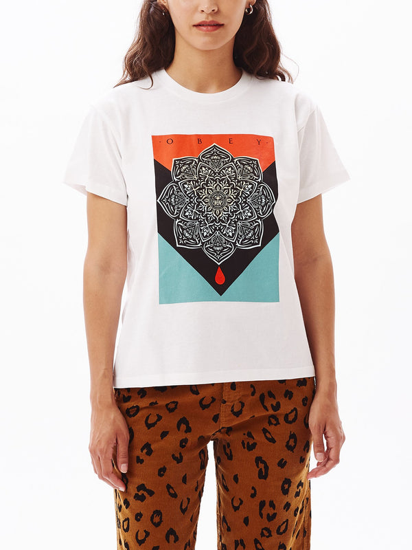 OBEY Blood & Oil Mandala Sustainable Tee White | OBEY Clothing