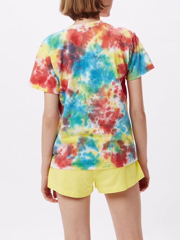 Give Peace A Chance Tie Dye Custom Box Tee Rainbow Blotch | OBEY Clothing