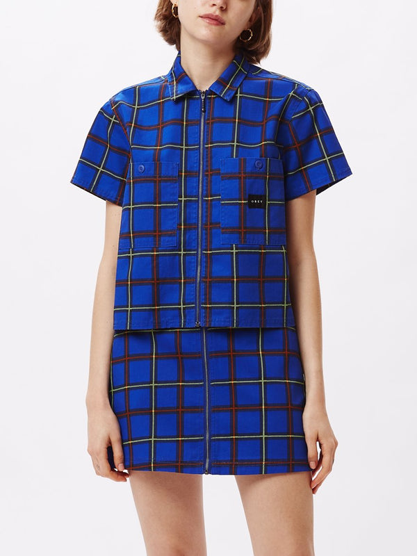 Bailey Work SS Shirt Cobalt Multi | OBEY Clothing