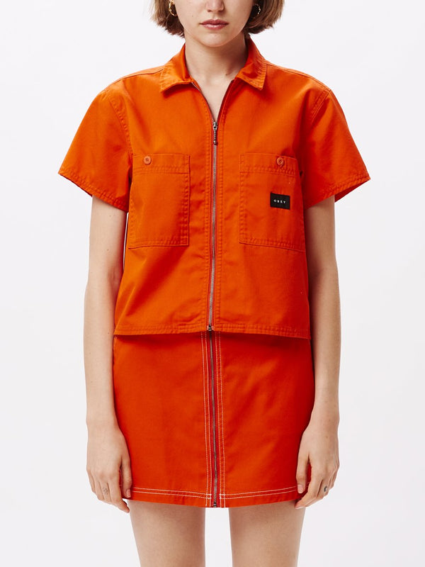 Bailey Work SS Shirt Flame Orange | OBEY Clothing