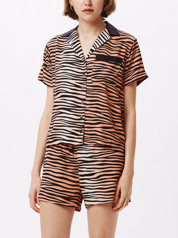 Kitty Shirt Apricot Multi | OBEY Clothing