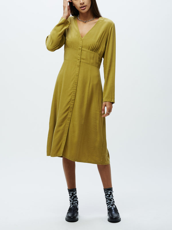 Drew LS Dress Loden | OBEY Clothing