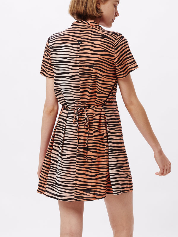 Kitty Dress Apricot Multi | OBEY Clothing