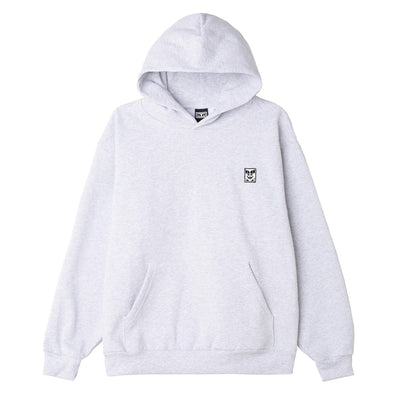 Icon Face II Heavyweight Pullover Hood Ash Grey | OBEY Clothing