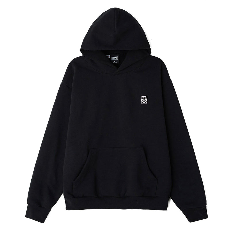 Icon Face II Heavyweight Pullover Hood Black | OBEY Clothing