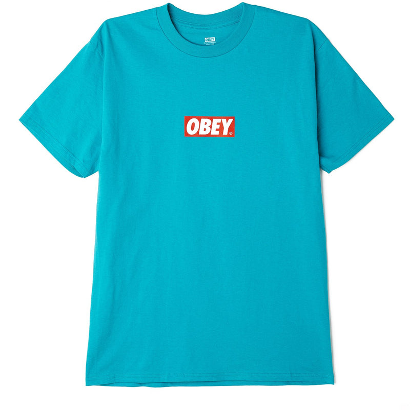 BAR LOGO CLASSIC TEE TEAL | OBEY Clothing