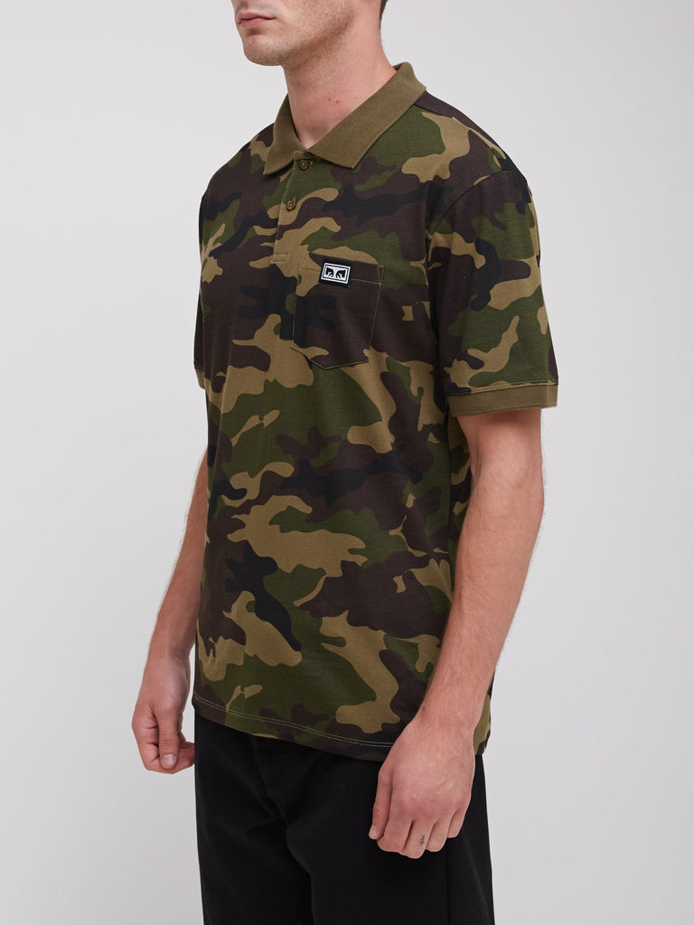 All Eyez Camo Polo Field Camo | OBEY Clothing