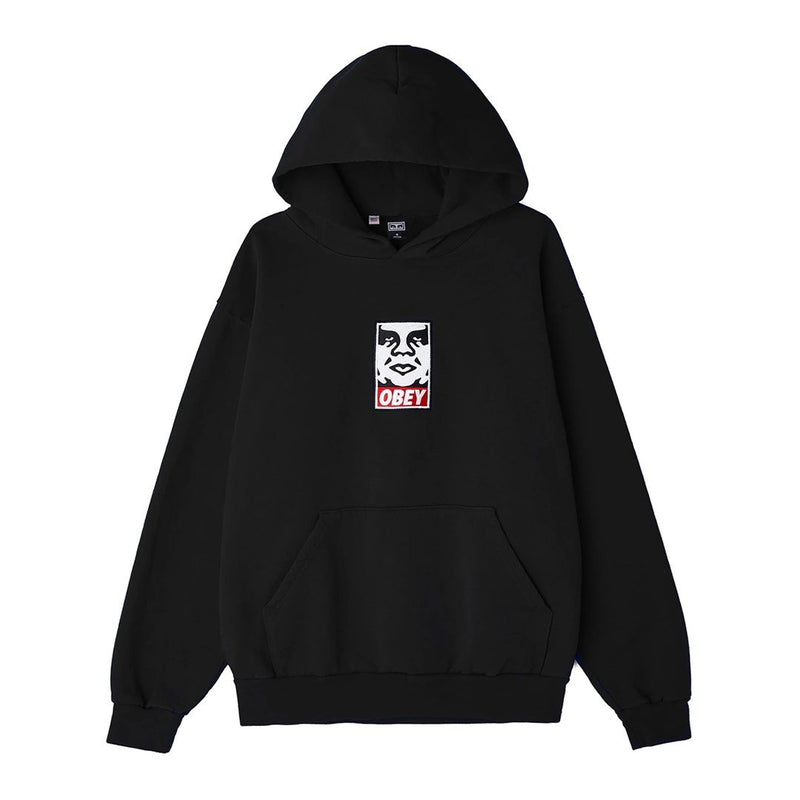 Icon Heavy Weight Pullover Hood Black | OBEY Clothing