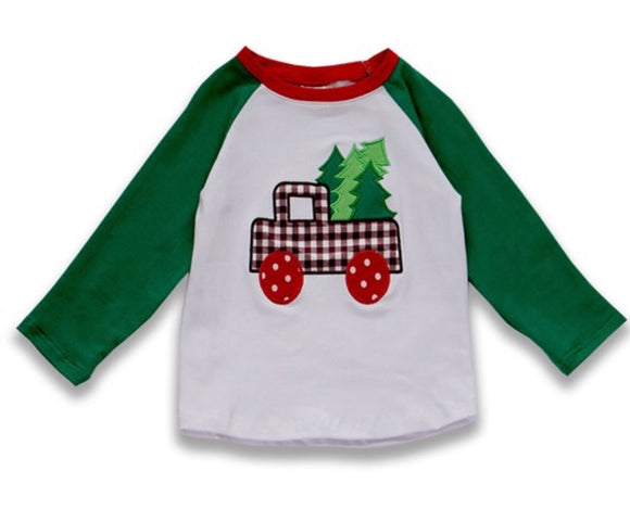 Christmas Tree Truck Appliqué Tee