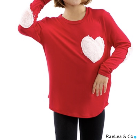 Heart Elbow Patch Top