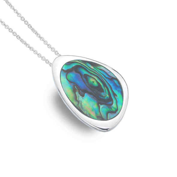 Sterling Silver Abalone Shell Rockpool Necklace - Seashore Jewellery