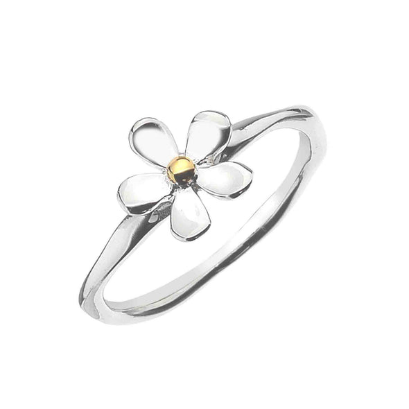 Sterling Silver Daisy Ring - Seashore Jewellery
