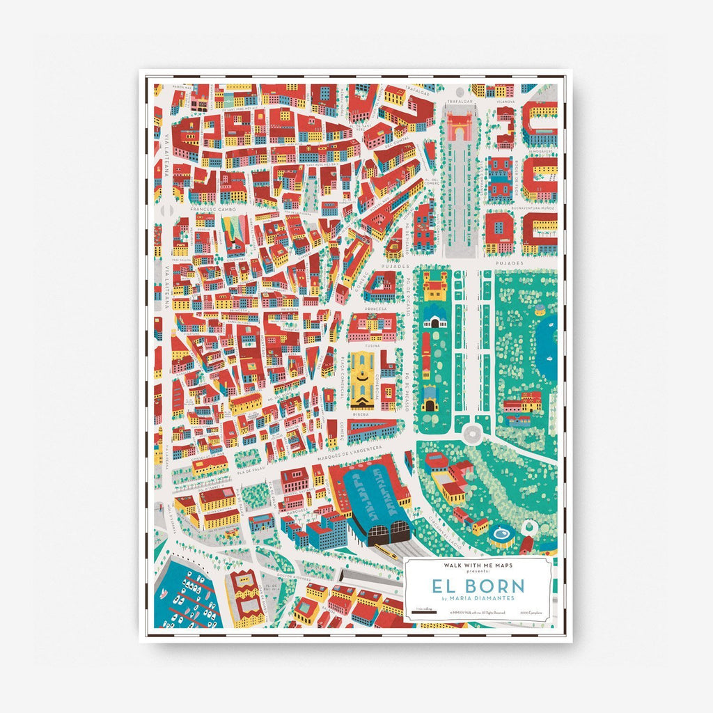 Barcelona Map · Born