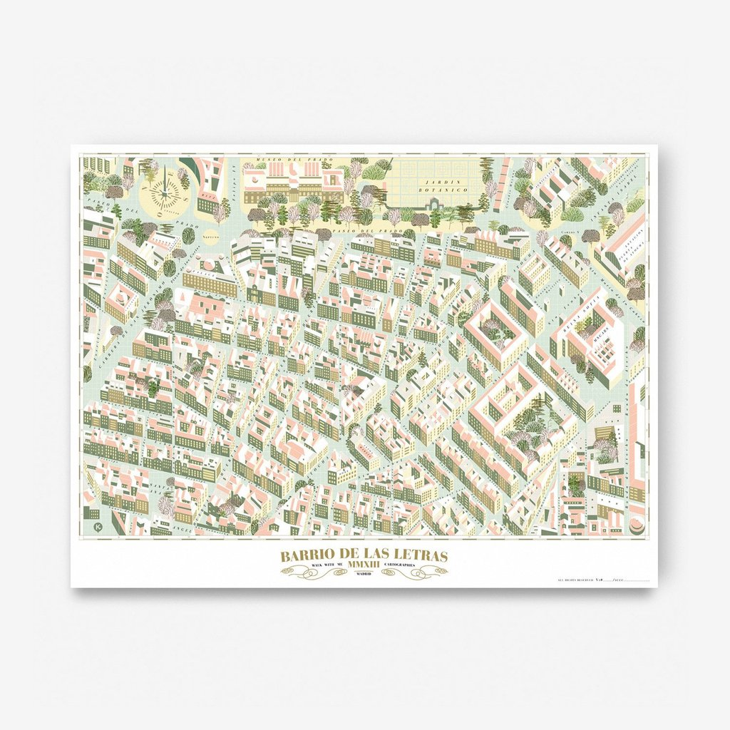Madrid Map · Barrio De Las Letras