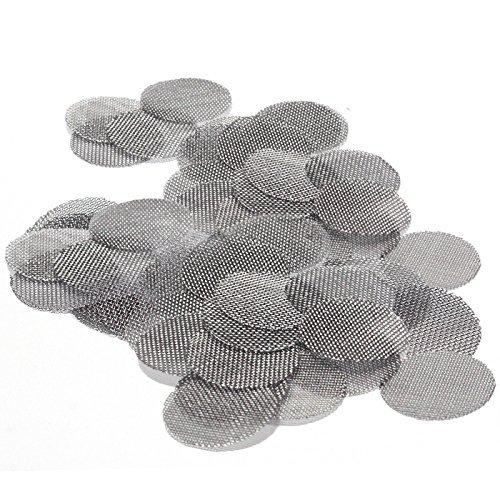 Pack of 100 Stainless Steel Glass Hand Pipe Screens