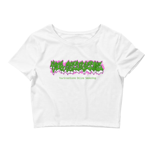 YourGreenScene Stretched Wildstyle Logo Crop Top
