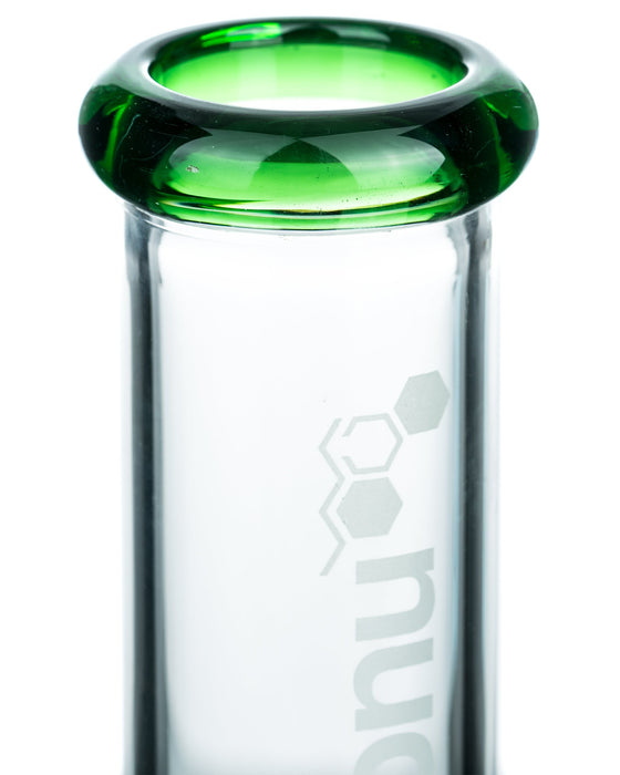 "YourGreenScene 16"" Coil Perc Straight Tube Bong with Splashguard"