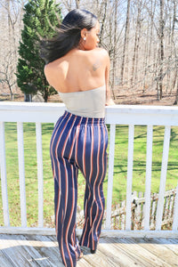 Navy Stripped Pants