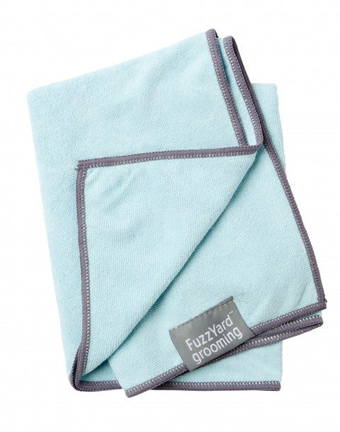 Microfibre Drying Towel For Puppies,  Blue With Grey Trim