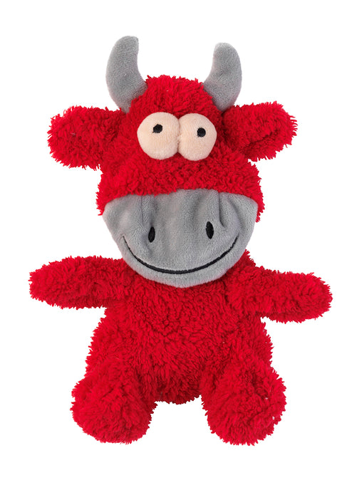 Flat Out Jordan the Bull Plush Dog Toy