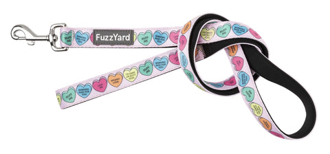 Candy Hearts Dog Lead