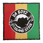 IS DA BOYZ RASTA STRIPE STICKER - 10cm x 10cm