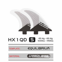 HX 1 QD SMALL - TWIN TAB (FCS) QUAD SET